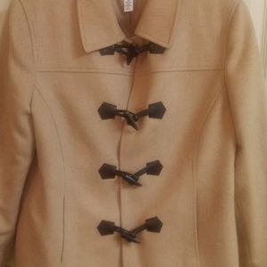 Talbots Pure Camel Hair Toggle Pea Coat